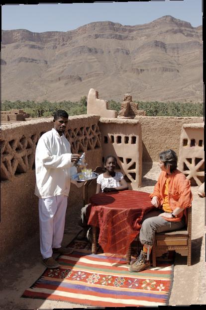 Village berbere ,Kasbah et Site imperial Terrasse_kasbah_2